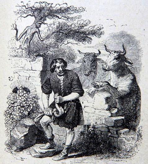 L'Homme et la Couleuvre, by J. J. Grandville