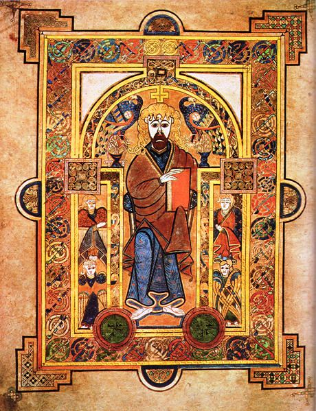 The Book of Kells:  Christ Enthroned.