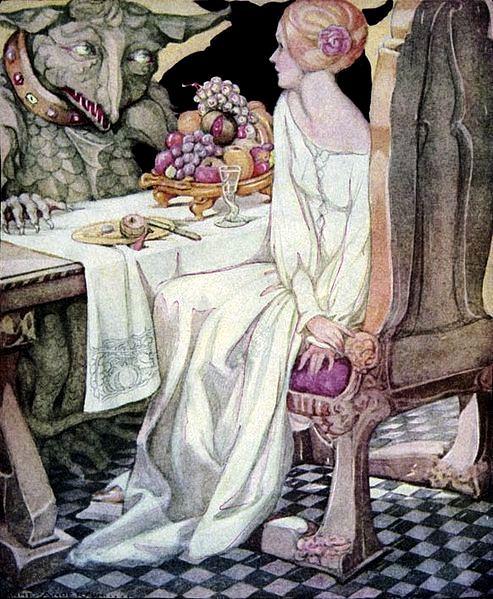 La Belle et la Bête, by Anne Anderson