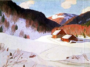 The Chapdelaine Farm, by Clarence Gagnon