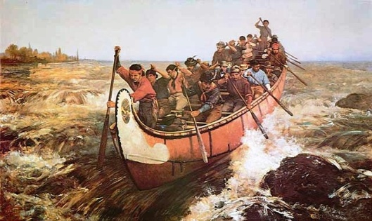 Shooting the Rapid, 1879, Frances Ann Hopkins (Photo credit: Wikipedia)