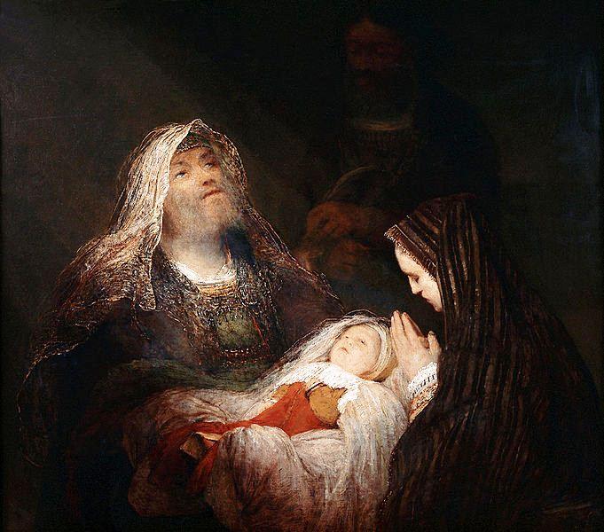 Nunc Dimittis, Simeon's Song of Praise, by Aert de Gelder