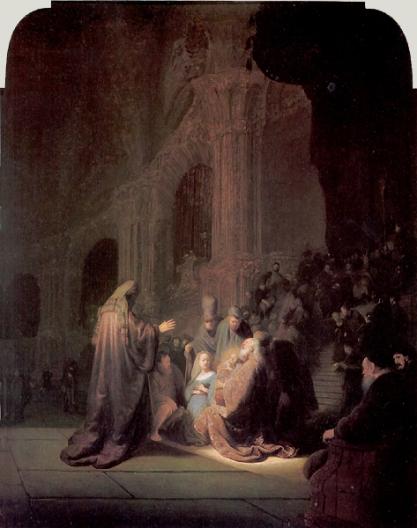 Presentation of Jesus at the Temple, by Rembrandt van Rijn