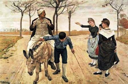 The miller, his son and the donkey, by Ferdinand Hodler*