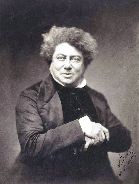 Alexandre Dumas, père, by Nadar