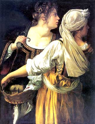 Judith and her Maidservant  (1613-14) by Artemesia Gentileschi