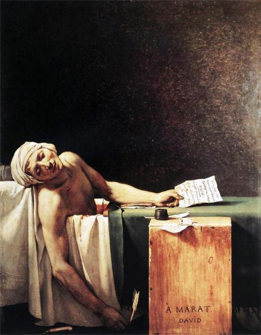 La Mort de Marat by Jacques-Louis David, 1793 (Photo credit: WikiArt.org