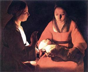 The Newborn by Georges de la Tour (Photo credit: WikiArt.org)