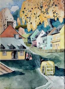 Village in Quebec, by Marc-Aurèle Fortin, 1926