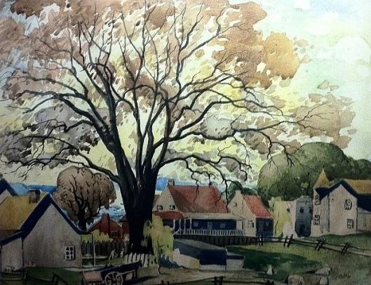Sainte-Rose Village, by Marc-Aurèle Fortin, 1930