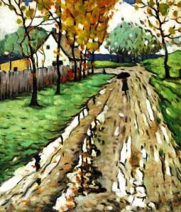 A Rainy Road Marc-Aurèle Fortin c. 1925-1928