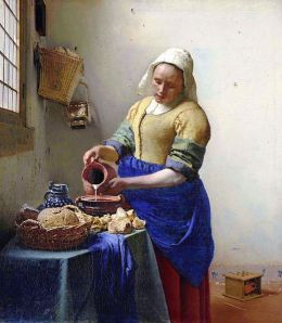 The Milkmaid, by Johannes Vermeer, c. 1658