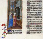 The Visitation in the Book of Hours of the Duc de Berry; the Magnificat in Latin