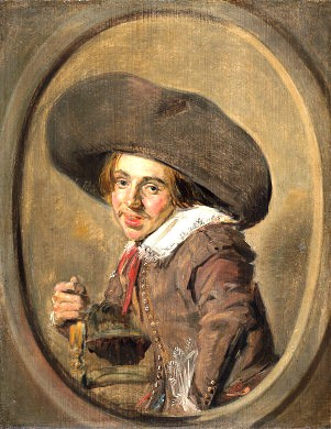 A Young Man in a Large hat, by Frans Hals,  1626/1629