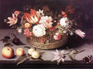 Basket of Flowers, by Johannes Booschaert