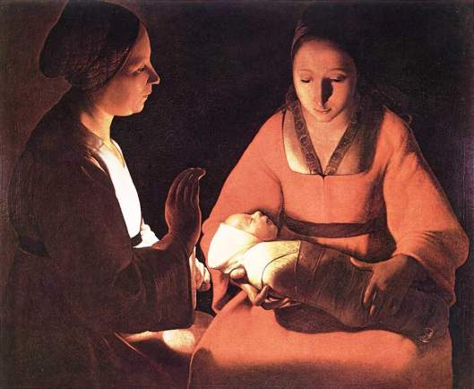 Le Nouveau-né, by Georges de la Tour