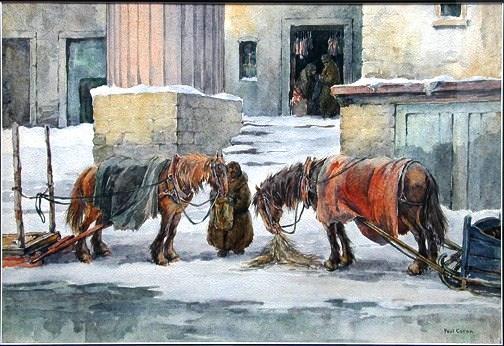 Paul Caron (1874-1941)<Le marché Bonsecours