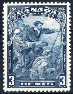 Jacques Cartier Stamp, 1934 issue