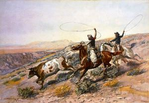 Buccaroos, by Charles Marion Russell