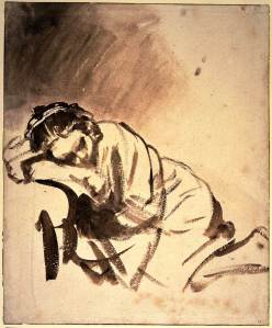 Hendrickje Sleeping, by Rembrandt