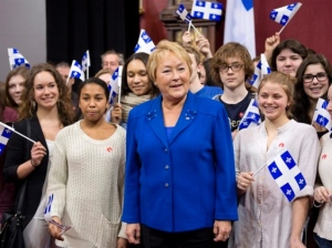 Pauliine Marois with Students (January 21, 2013