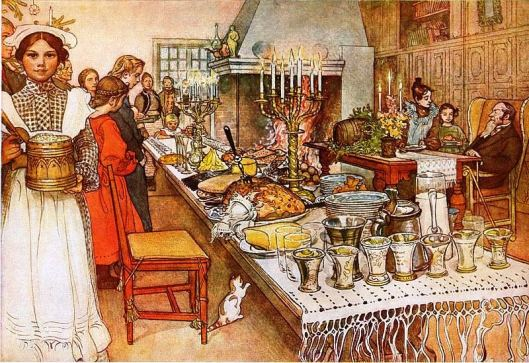 Julaftonen, by Carl Larsson, 1904