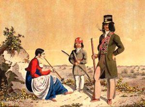 Métis Family ca. 1826 (Bata Shoe Museum P80.982)