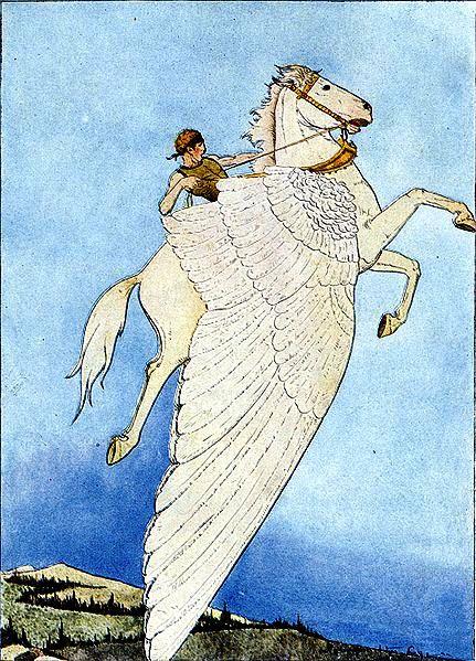 Bellerophon riding Pegasus (1914)