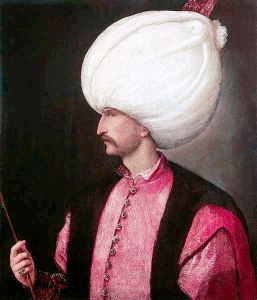 Suleiman in a portrait attributed to Titian c.1530