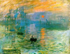Impression. soleil levant (Impression, Sunrise), 1872, oil on canvas, Musée Marmottan