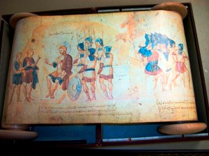 The Joshua Scroll, Vatican Library, illuminated scroll, created in the Byzantine empire