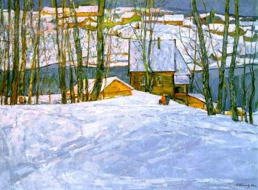 Winter in Petrovsaya, by Nikolai Timkov