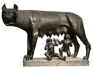Capitoline Wolf. Traditional scholarship says the wolf-figure is Etruscan, 5th century BC, with figures of Romulus and Remus added in the 15th century AD by Antonio Pollaiuolo. Recent studies suggest that the wolf may be a medieval sculpture dating from the 13th century AD