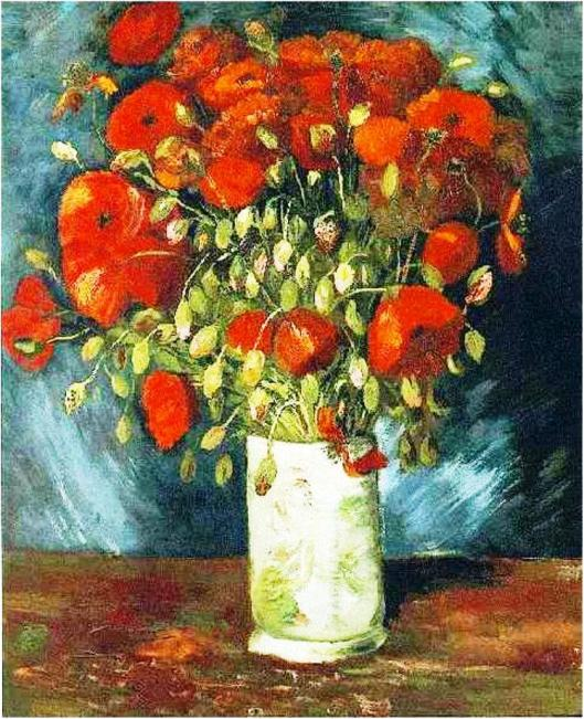 Vase with Red Poppies, by Van Gogh