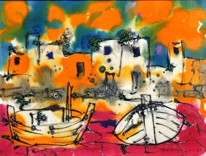 Paul Vanier BeaulieuThe Boats, Brittany, 1970
