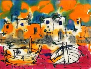 Paul Vanier BeaulieuThe Boats, Brittany, 1970