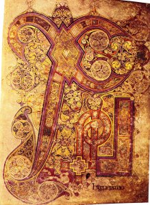 Book of Kells, f 34r (Chi-Rho)