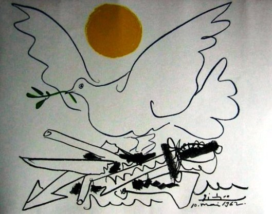 Combat Paix, by Picasso, 1962