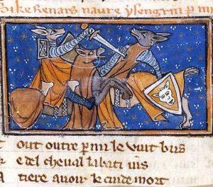 Illumination from a manuscript of the Roman de Renart, end of the 13th century
