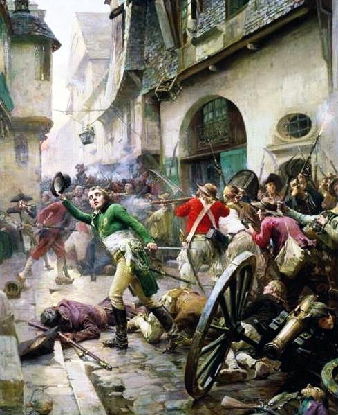 Henri de La Rochejacquelein at the Battle of Cholet in 1793 by Paul-Émile Boutigny (10 March 1853  - 27 June 1929), Musée d'art et d'histoire de Cholet.
