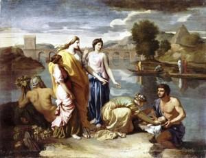 Moïse sauvé des eaux, by Nicolas Poussin