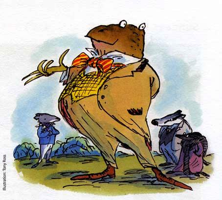 a wind in the willows character mr toad Eh shepard illustration of mr toad kenneth grahame's the wind in the willows  is one of those essential books of childhood – one that we all grow up reading   are probably still familiar with the characters of badger, ratty, mole and toad.