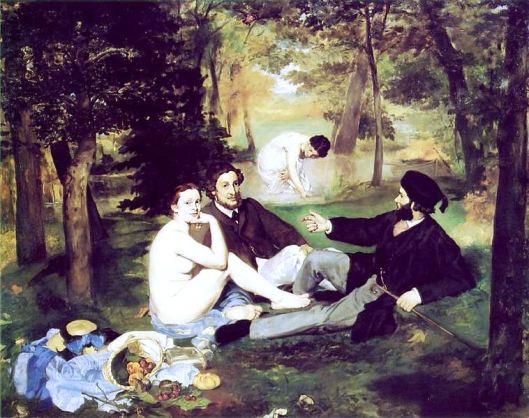 Le Déjeuner sur l'herbe, by Édouard Manet, 1863