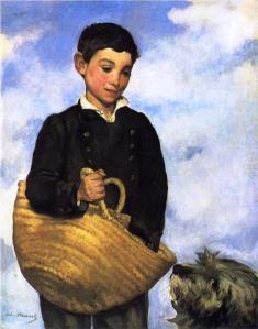 A Boy with a Dog, Édouard Manet, 1861