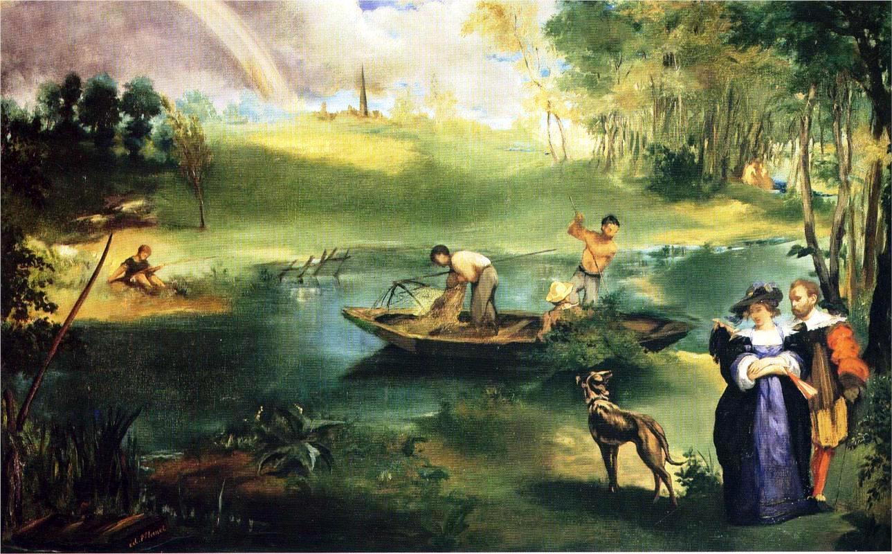 La Pèche (Fishing), by Édouard Manet, 1863