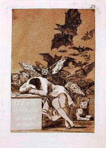 Il sueño de la razón produce monstruos, by Francisco Goya