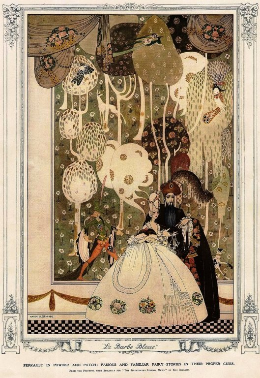 "La Barbe Bleue, from the painting made Specially for the 1913 Christmas edition of ""The Illustrated London News"" by Kay Nielsen* (Photo credit: Google Images)"