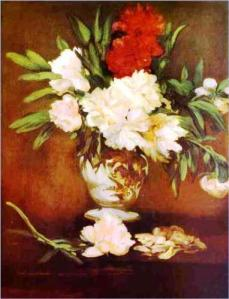 Peonies in a Vase, by Édouard Manet, 1864