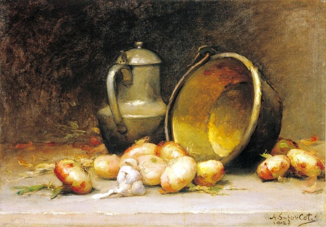 Still-life with Onions, 1902, by Suzor-Coté (Photo credit: the National Gallery of Art, Ottawa, Canada)