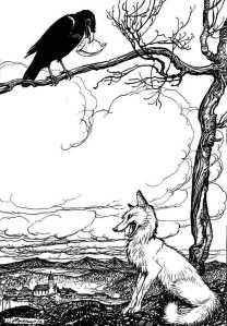 Le Corbeau et le Renard, by Arthur Rackham